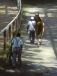 Equine Prints - The Grooms Print by Linda Tenukas