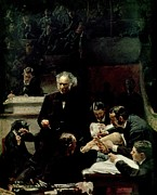 Hospitals Posters - The Gross Clinic Poster by Thomas Cowperthwait Eakins
