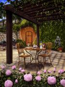 Napa Valley Vineyard Paintings - The Grotto at Rombauer by Patrick ORourke