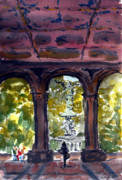 Bethesda Fountain Prints - The Grotto Print by Chris Coyne