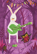 Rabbit Drawings - The Groupie by Kate Cosgrove