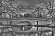 Barges Prints - The Grove Bridge Watford Grand Union Canal Print by Chris Thaxter