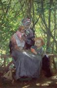 Mothering Sunday Framed Prints - The Grove Framed Print by Julius Gari Melchers