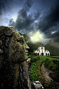 Statue Photo Prints - The Guardian Print by Meirion Matthias