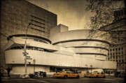 Taxi Cab Photos - The Guggenheim by Evelina Kremsdorf
