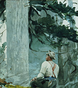 Tree Leaf On Water Posters - The Guide Poster by Winslow Homer