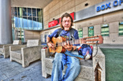 Homeless Prints - The Guitar Player 1 Print by Andrew Armstrong  -  Orange Room Images