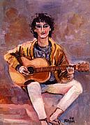 Guitarist Art - The Guitar Player by John Keaton
