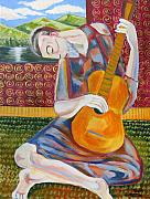 John Keaton Art - The Guitarist by John Keaton