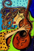 Representational Originals - The Guitarist by Yvonne Feavearyear