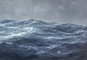 Turbulent Blue Skies Painting Prints - The Gulls Way Print by Richard Willis
