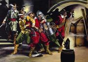 Night Scenes Paintings - The Gunpowder Plot by Ron Embleton
