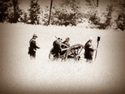 Cannons Metal Prints - The Guns of Gettysburg Metal Print by Bill Cannon