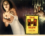 Horror Movies Photos - The H-man, Aka Bijo To Ekitainingen by Everett