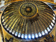 Seraphim Angel Prints - The Hagia Sophia Dome Print by Sarah E Ethridge
