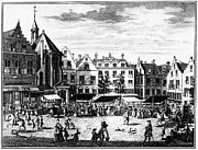 Shopper Prints - The Hague: Market, 1727 Print by Granger
