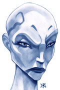 Sith Prints - The Hairless Harpy aka Asajj Ventress Print by Christopher Robin