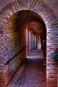 Brick Patio Posters - The Hallway at Tlaquepaque Poster by David Patterson
