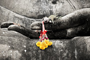Finger Metal Prints - The Hand of Buddha Metal Print by Adrian Evans