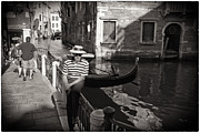 Gondolier Photo Framed Prints - The Handsome Gondolier Framed Print by Madeline Ellis