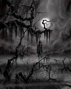 Moonscape Painting Prints - The Hangman Print by James Christopher Hill