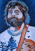 Wolf Portrait Paintings - The Hangover Alan Garner by Mikayla Henderson
