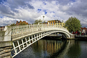 Cast Iron Framed Prints - The HaPenny Bridge Framed Print by Michelle Sheppard