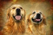 Golden Digital Art - The Happy Couple by Trudi Simmonds
