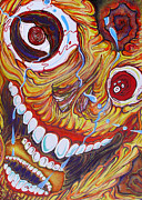 Artgrinder Acrylic Prints - The Happy Miserable Acrylic Print by Sam Hane
