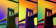 Brooklyn Bridge Mixed Media Framed Prints - The hardest thing in life to learn is which bridge to cross  Framed Print by Jennifer Bodrow