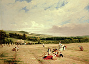 Family Gathering Posters - The Harvest Field Poster by William Frederick Witherington