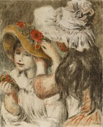 The Hatpin Print by  Pierre Auguste Renoir