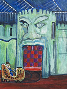 Asbury Park Funhouse Painting Originals - The Haunted Castle by Patricia Arroyo