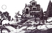 Haunted House Drawings - The Haunted House by Joella Reeder