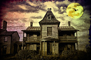 Haunted House Digital Art Prints - The Haunted Mansion Print by Bill Cannon