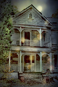 Haunted House Digital Art Metal Prints - The Haunting Metal Print by Sari Sauls
