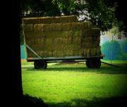 Hay Wagon Prints - The Hay Wagon Print by Michael L Kimble