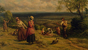 Crops Art - The Haymakers by James Thomas Linnell