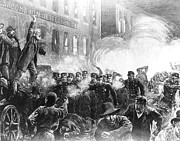 Mob Prints - The Haymarket Riot, 1886 Print by Granger