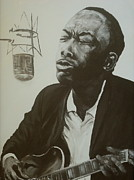 Musician Portrait Painting Originals - The Healer by Pete Maier