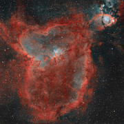 Open Clusters Posters - The Heart Nebula Poster by Rolf Geissinger