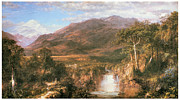 Fine American Art Prints - The Heart of the Andes Print by Frederick Edwin Church