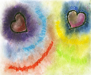 Burst Pastels Prints - The Heartbeat Print by Courtney and Art with a Heart In Healthcare