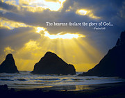 Heceta Posters - The Heavens Declare Poster by Bonnie Bruno