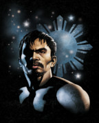 Boxer Digital Art - The Heavens Shine on Pacquiao by Elvin Dantes