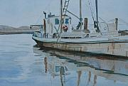 Fishing Boats Originals - The Helen McColl at Rest by Jenny Armitage