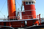 Fishermans Wharf Framed Prints - The Hercules . A 1907 Steam Tug Boat At The Hyde Street Pier in San Francisco California . 7D14143 Framed Print by Wingsdomain Art and Photography