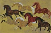 Trotting Paintings - The Herd by Liz Pizzo