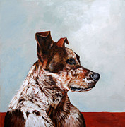 Enzie Shahmiri Prints - The Herding Dog Print by Enzie Shahmiri