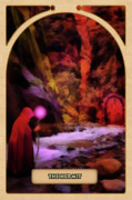 Mystical Digital Art Prints - The Hermit Print by John Edwards